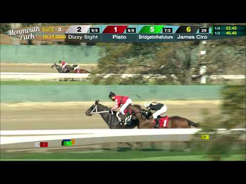 video thumbnail for MONMOUTH PARK 10-17-20 RACE 3