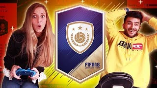 OMG MY GIRLFRIEND PACKS SOME OF THE BEST PLAYERS ON FIFA! - FIFA 18 PACK OPENING