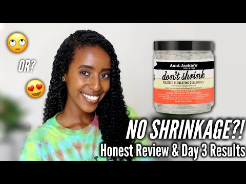 NO SHRINKAGE?...Aunt Jackie's Don't Shrink Flaxseed Elongating Gel Review & Wash N Go | Lydia Tefera