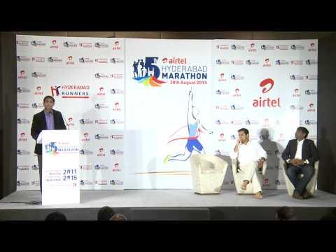 Airtel Hyderbad Marathon Press Meet 2015 REV