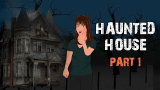 Haunted House Halloween Animated Horror Story - Part 1 (English)