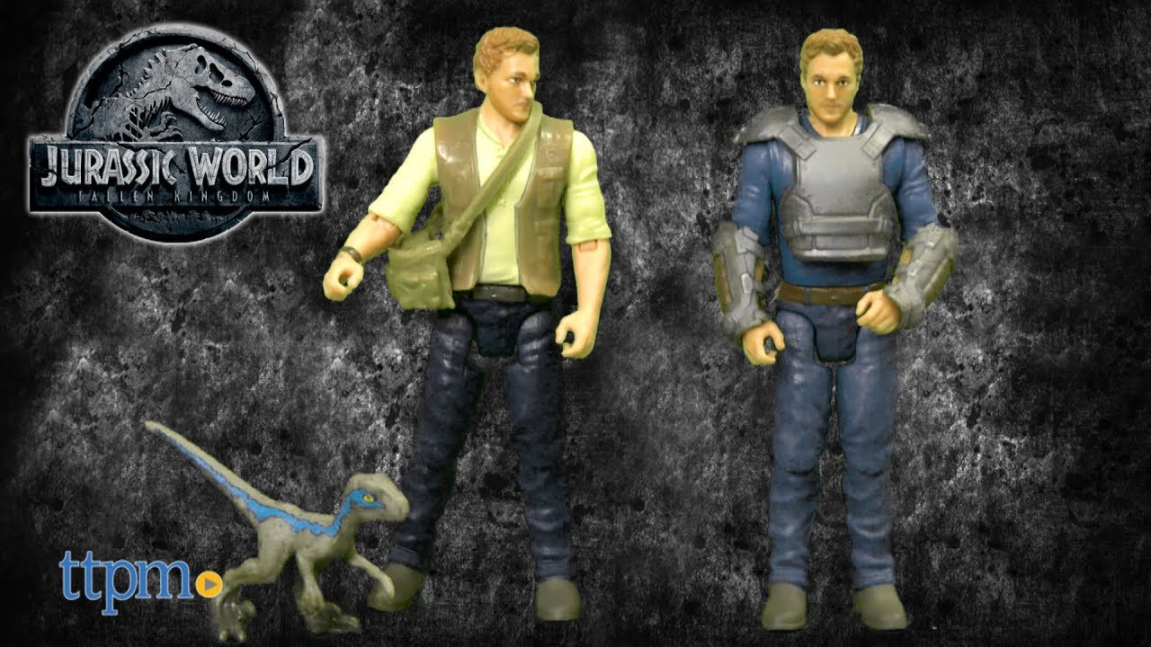 Jurassic World Basic Figure Velociraptor Trainer Owen Figure
