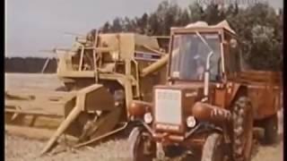 1987 год. Испытание трактора, работающего на природном газе.