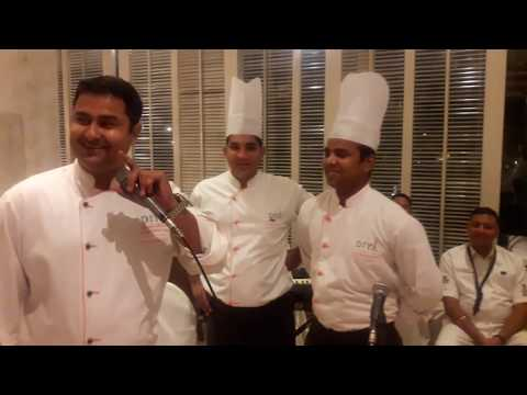 Chef Harish singing romantic song