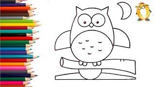 как рисовать филин | Рисование и раскраска