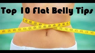 Top 10 flat tummy tips for men and women