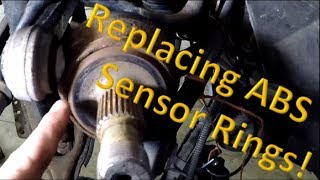 Replacing a rear ABS sensor magnet ring on a Mercedes W211!