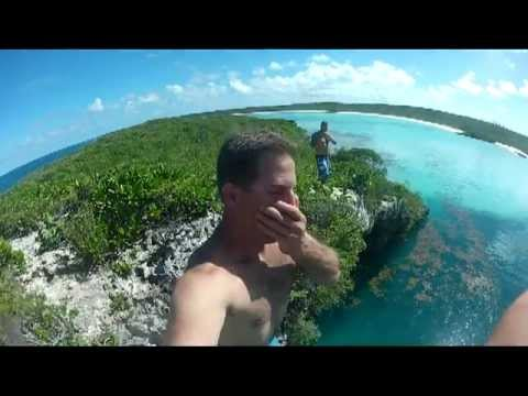 Dean's Blue Hole Cliff Jumping with GoPro's