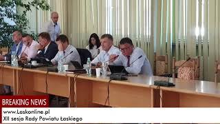 XII sesja Rady Powiatu Łaskiego