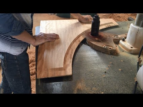 Techniques Curved Woodworking Extremely Dangerous - Building Projects Main Doors With Curved Wood