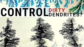 FRACTAL ART   How to make LARGE TREES by Controlling D RTY DENDR TES   Fluid Art Techniques