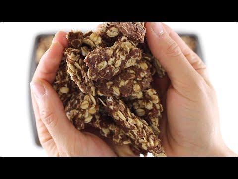 No-Bake Chocolate Coconut Granola Clusters (sugar free, gluten free, vegan)