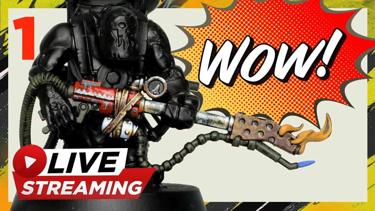 🔥 Kill team ORK 🔥 painting tutorial NMM - LEATHER- STIPPLING -WEAPON stream
