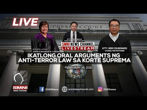 LIVE! Ikatlong oral arguments ng Anti-Terror Law sa Korte Suprema | February 16, 2021