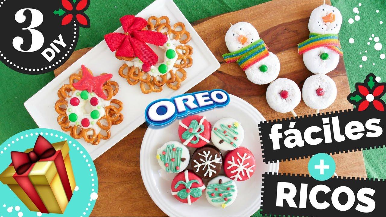 3 Regalos Para Navidad FCILES Y COMESTIBLES La