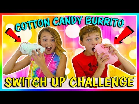 COTTON CANDY BURRITO INGREDIENT SWITCH UP CHALLENGE | We Are The Davises