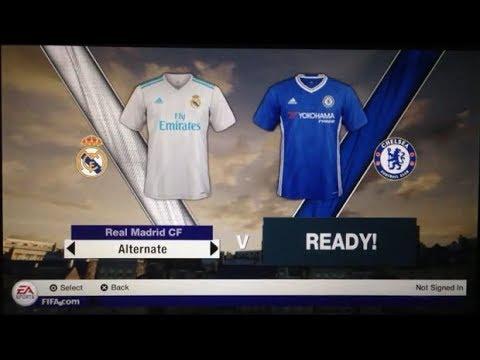 Fifa 18 PS Vita Gameplay Real Madrid Vs Chelsea