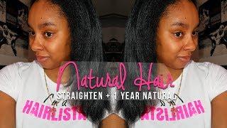 NATURAL HAIR | Straightening Multi-Textured Curly Hair Thumbnail