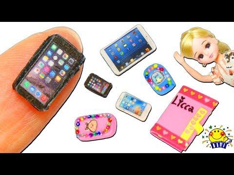 リカちゃん iPhoneを手作り♡ミキちゃんマキちゃんに携帯電話とケースのプレゼント♪iPadもDIY♪miniature おもちゃ たまごMammy