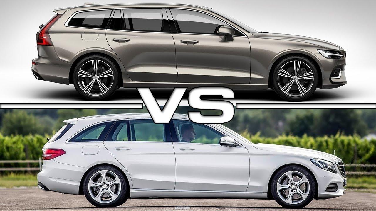 Volvo V60 Cross Country >> 2019 Volvo V60 vs 2018 Mercedes C-Class Estate - YouTube