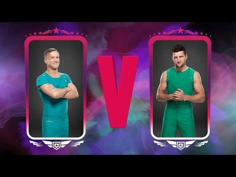Peter Duncan & Carl Froch compete in the Vault Off - Tumble: Semi-Final - BBC One