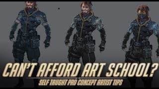Can't afford art school? - Tips for self taught Concept Artists.
