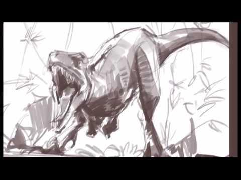 [그리다]드로잉 - 쥬라기월드 폴른킹덤 - 그림 그리기 [Grida] Jurassic World  Fallen Kingdom Drawing Speed Drawing