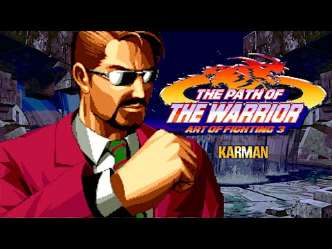 Art Of Fighting 3: The Path Of The Warrior Karman Cole Playthrough Neo Geo MVS 龍虎の拳 外伝カーマン・コール