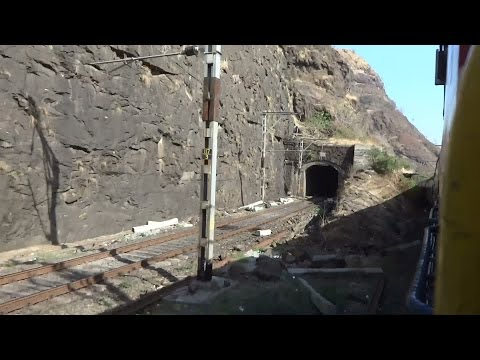 AMAZINGLY BEAUTIFUL BHOR GHAT OF INDIA : FULL COVERAGE : Onboard Pune Intercity Exp