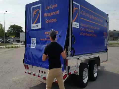 Rolling Cover Canopy Tarp Fender Trailers
