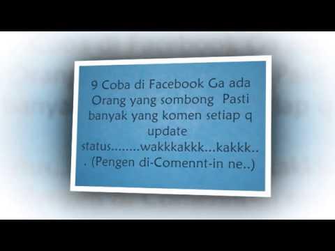 Ngakak! Status FB Konyol