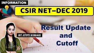 CSIR 2019 DECEMBER RESULT AND CUTOFF UPDATE  CSIR NET 