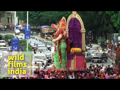 Elated Mumbaikars despite blocked traffic: Ganesh Chaturthi in Mumbai