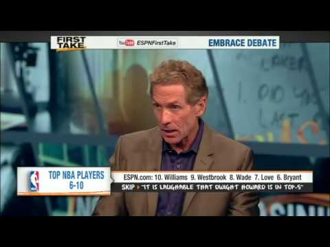 First Take – NBA – Top 5 Players – Kobe Bryant and Dwyane Wade Not On List