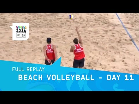 Beach Volleyball - Men's Bronze & Gold Matches | Full Replay | Nanjing 2014 Youth Olympic Games