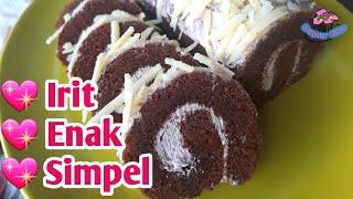 Cara Membuat Bolu Gulung Kukus Coklat - Modifikasi Resep Bunda Hilda Amir yang Sedang Viral