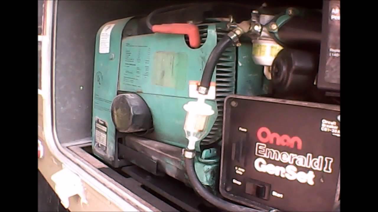 Ac Plug Wiring Diagram Maintaining My Onan Emerald 1 Generator Youtube