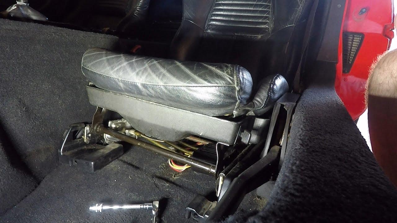 1995 c4 corvette power drivers seat removal youtube. Black Bedroom Furniture Sets. Home Design Ideas