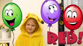 Learn Colors with Color Funny Balloons Educational video for Children +Kids Songs - Balloon Songs