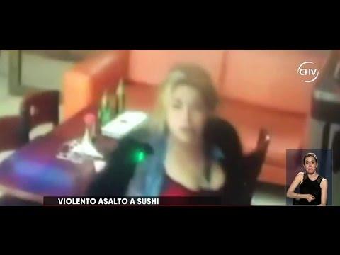 Violento asalto a local de sushi en Santiago Centro -  CHV NOTICIAS