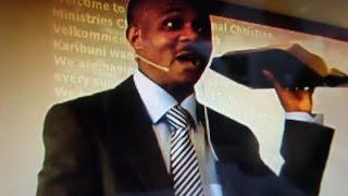 Pastor Kapinga Dieudonné Mushagalusa in Randers Livingston Bible Church