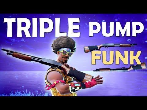 TRIPLE PUMP FUNK | SOLO SLAUGHTER - (Fortnite Battle Royale)