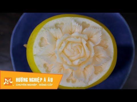 Cách cắt tỉa dưa hoàng kim đẹp độc đáo - Học cắt tỉa hoa quả