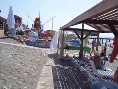 Какой пляж в Лоо песок или галька