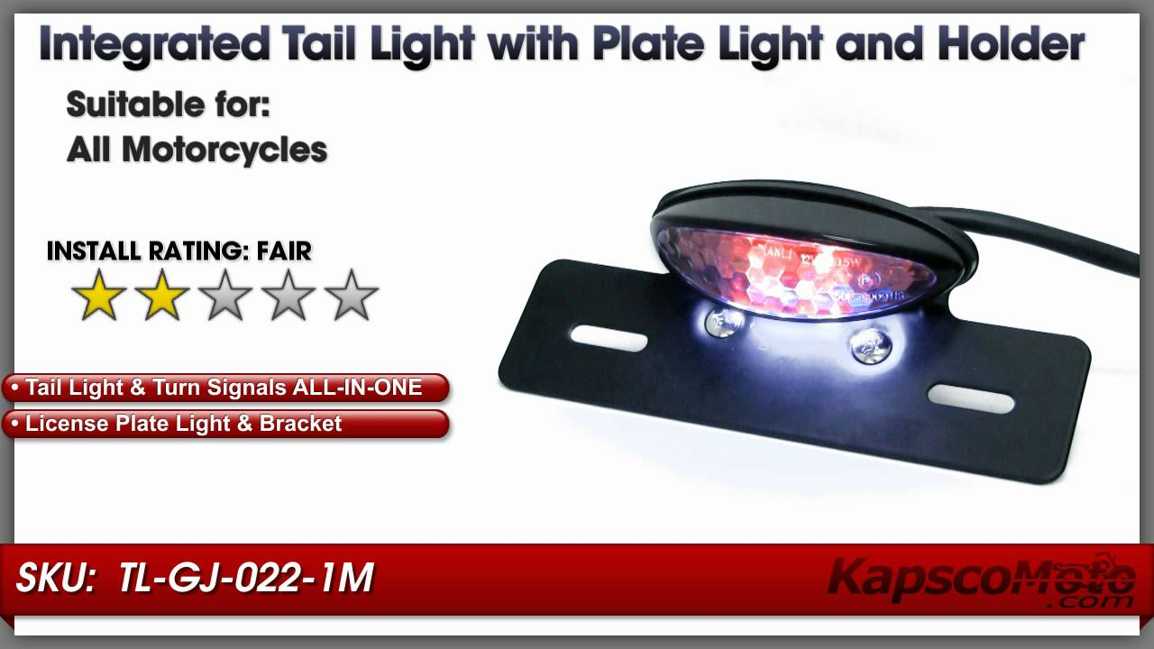 Custom Black LED Integrated Taillight Brake Light Turn Signals ...