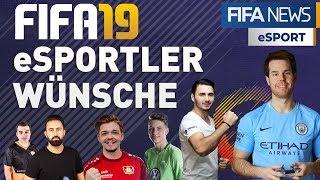 FIFA 19 ► Das WÜNSCHEN sich die eSPORTLER | FIFA eSPORT NEWS