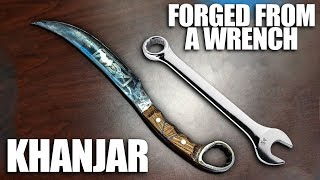 Forging a Khanjar Knife from a Wrench