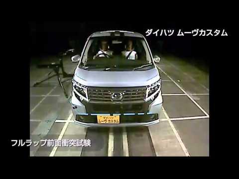 自動車アセスメント:ダイハツムーヴカスタム:フルラップ前面衝突試験
