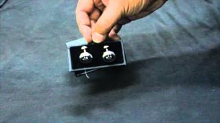 Montblanc blanc cufflinks unboxing