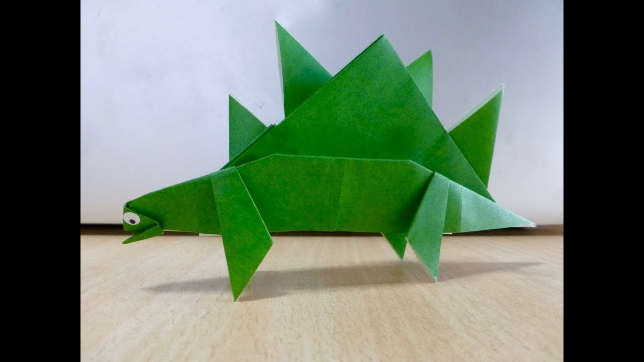 Cara Membuat Stegosaurus Origami Seni Melipat Kertas Youtube